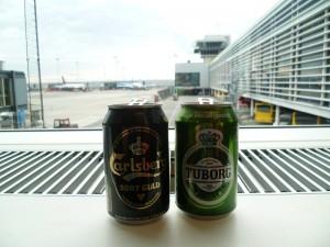 Pivečko na letišti v Kodani